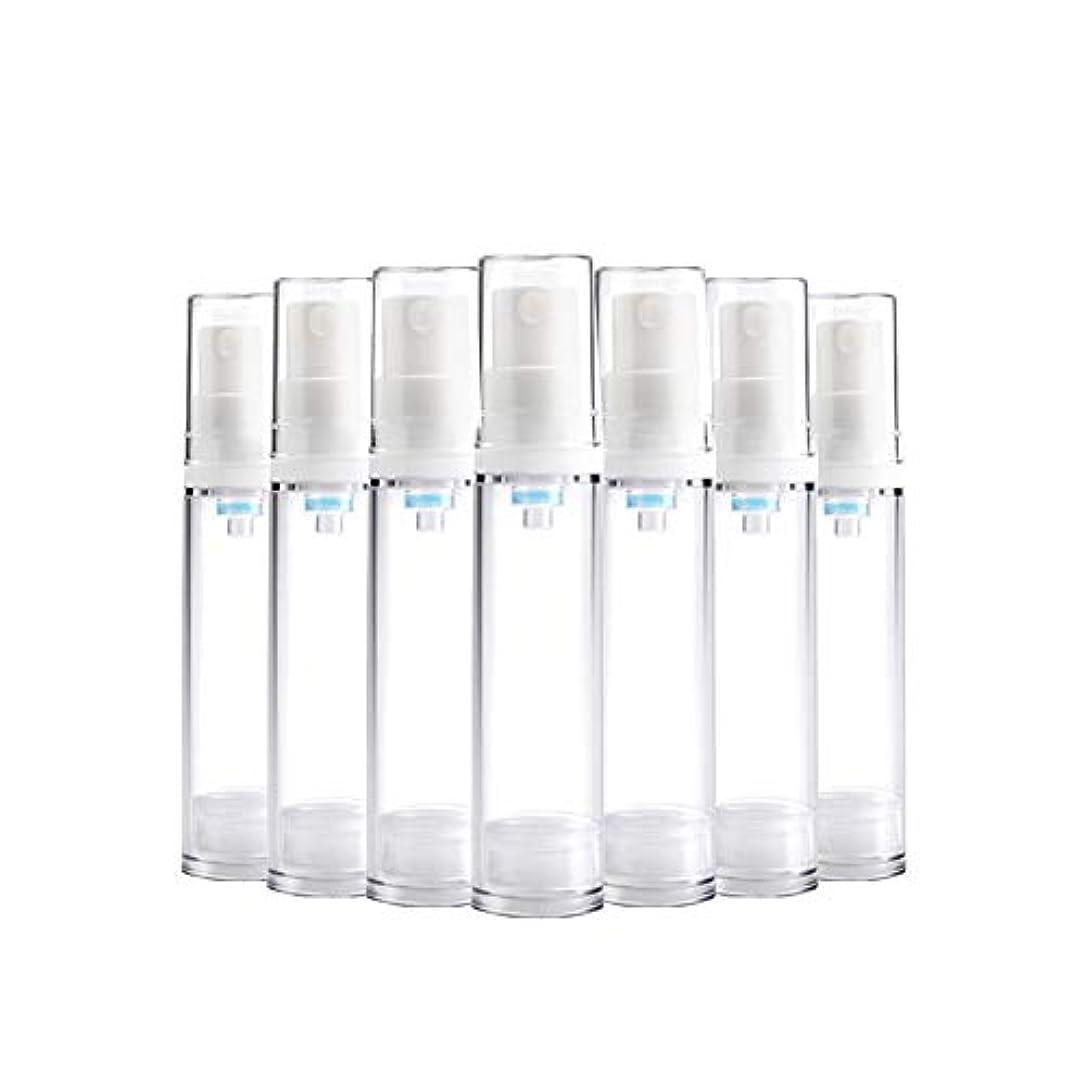 バンガロー中に時制6 PCS Aspireトランスペアレントプラスチックエアロゾルスプレーボトルエアレスポンプスプレーボトル 詰め替え可能なファインミストエアレススプレー(15ml 30ml) - 30 ml