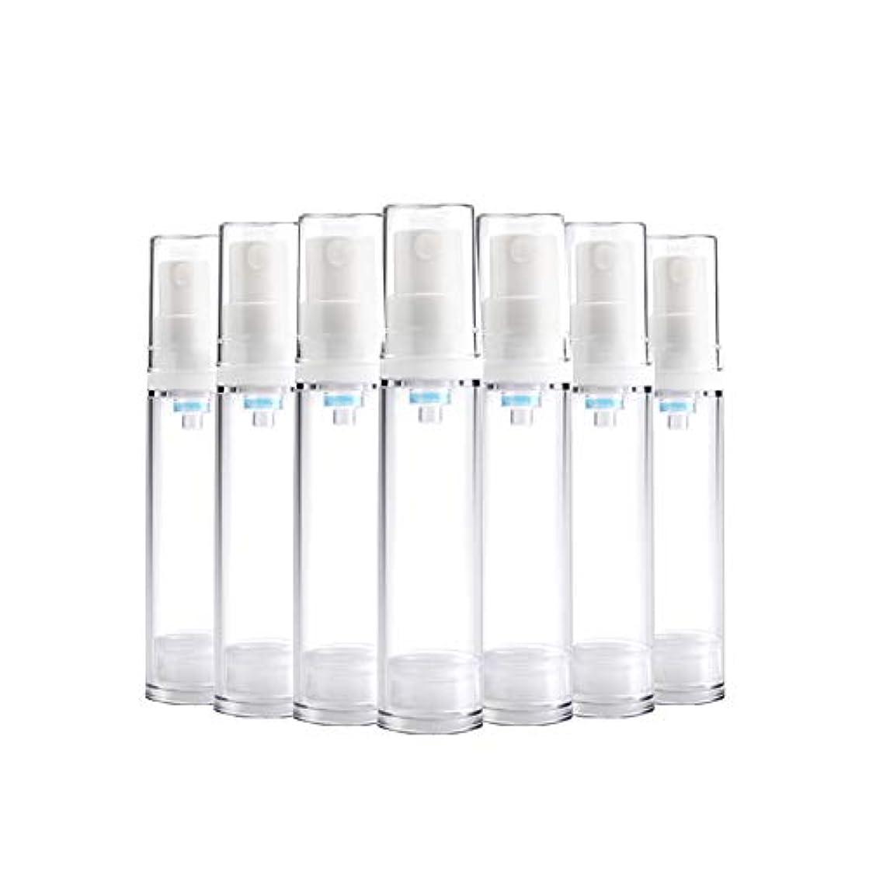 現代の帝国主義デモンストレーション6 PCS Aspireトランスペアレントプラスチックエアロゾルスプレーボトルエアレスポンプスプレーボトル 詰め替え可能なファインミストエアレススプレー(15ml 30ml) - 30 ml