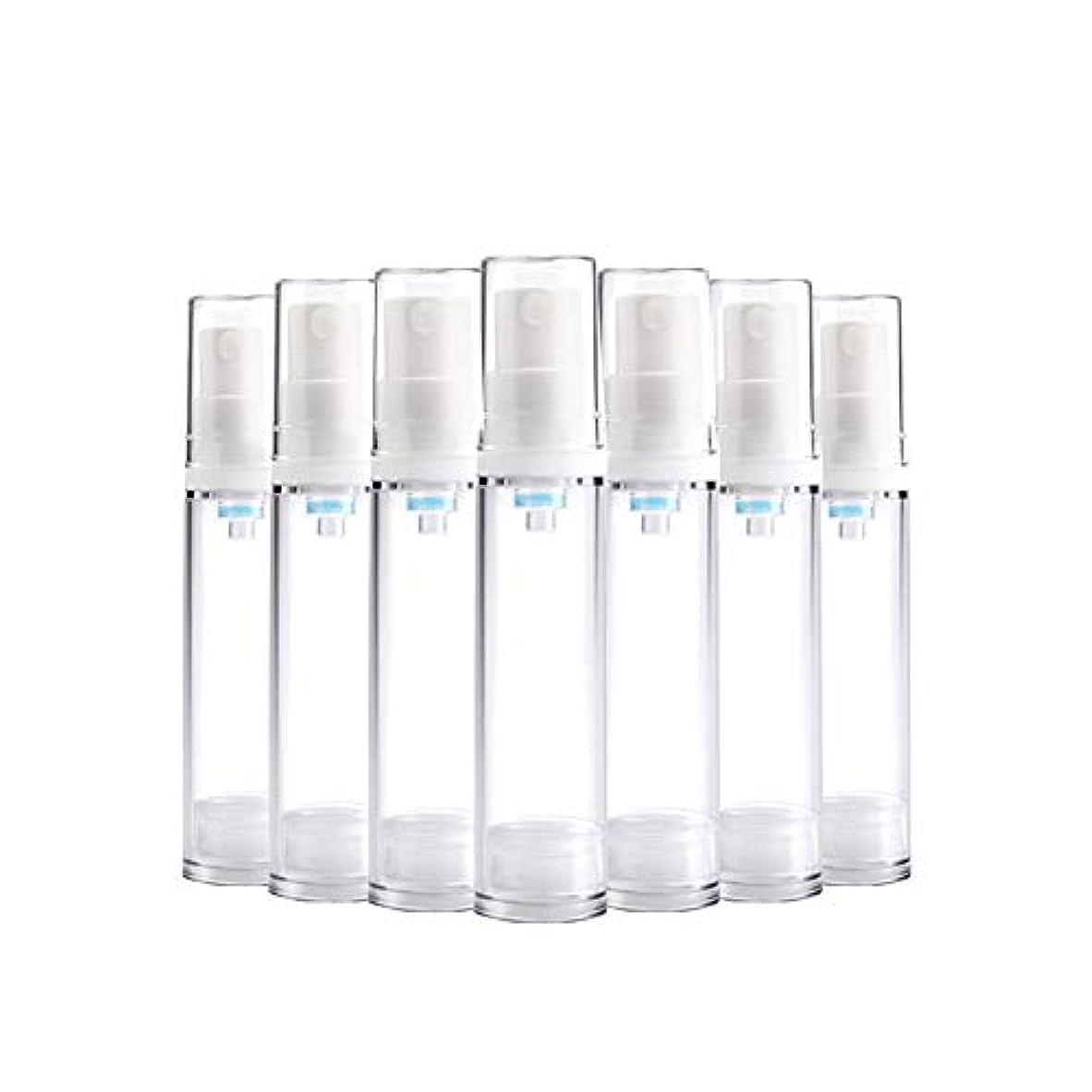 結果としてアルカトラズ島に6 PCS Aspireトランスペアレントプラスチックエアロゾルスプレーボトルエアレスポンプスプレーボトル 詰め替え可能なファインミストエアレススプレー(15ml 30ml) - 30 ml