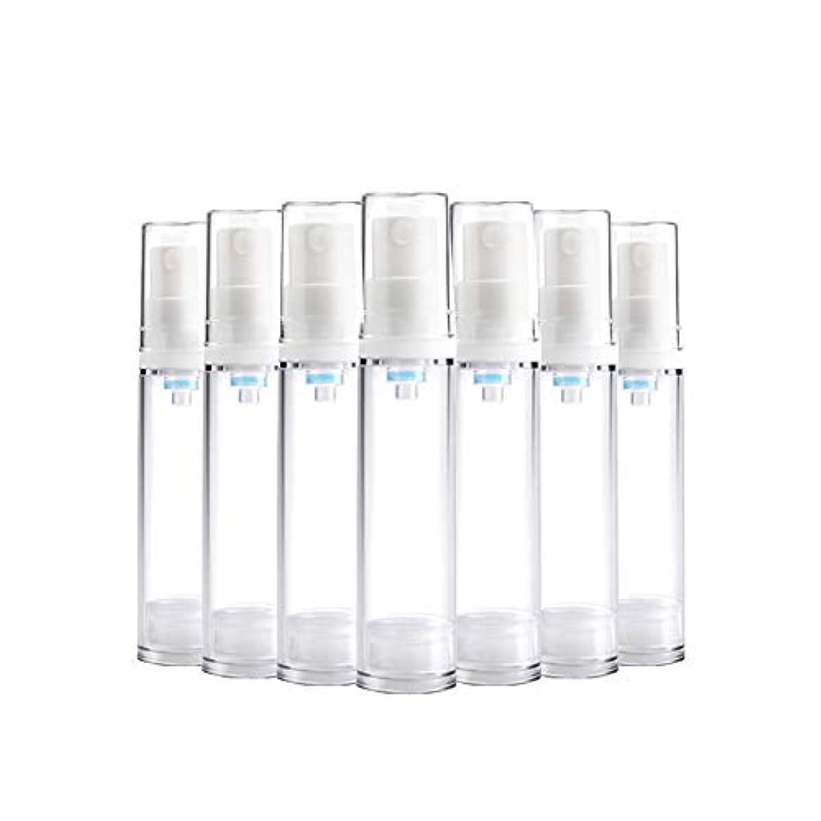 独裁血まみれの覗く6 PCS Aspireトランスペアレントプラスチックエアロゾルスプレーボトルエアレスポンプスプレーボトル 詰め替え可能なファインミストエアレススプレー(15ml 30ml) - 30 ml