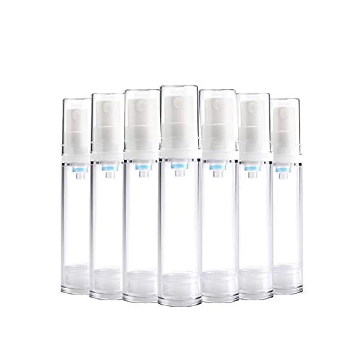 6 PCS熱望透明プラスチックエアロゾルスプレーボトルエアレスポンプスプレーボトル 詰め替えファインミストエアレススプレー(15ml 30ml) BPAフリー - 30 ml