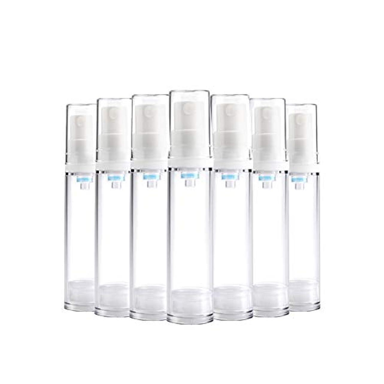 6 PCS Aspireトランスペアレントプラスチックエアロゾルスプレーボトルエアレスポンプスプレーボトル 詰め替え可能なファインミストエアレススプレー(15ml 30ml) - 30 ml