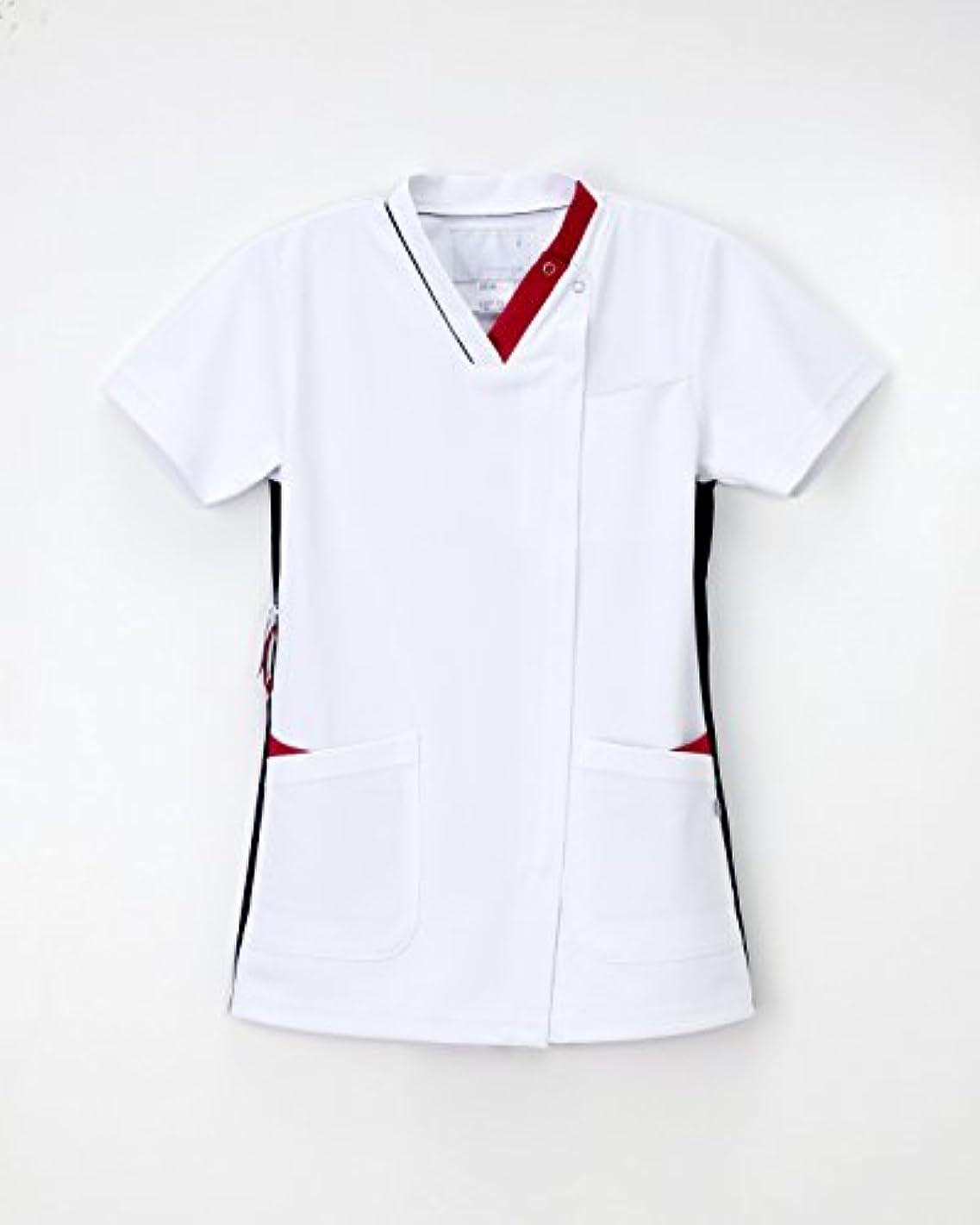 測定使役物理的に医療用ユニフォーム 男女兼用スクラブ LX-4092(LL) Tネイビー+ピンク
