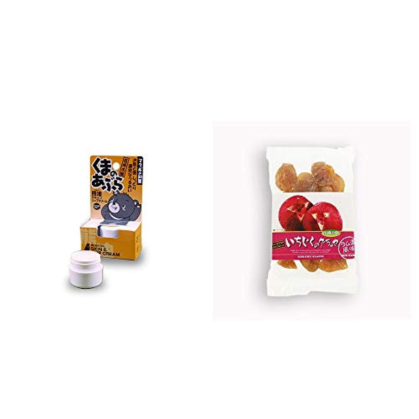 うれしい電極編集者[2点セット] 信州木曽 くまのあぶら 熊油スキン&リップクリーム(9g)?いちじくのグラッセ(230g)