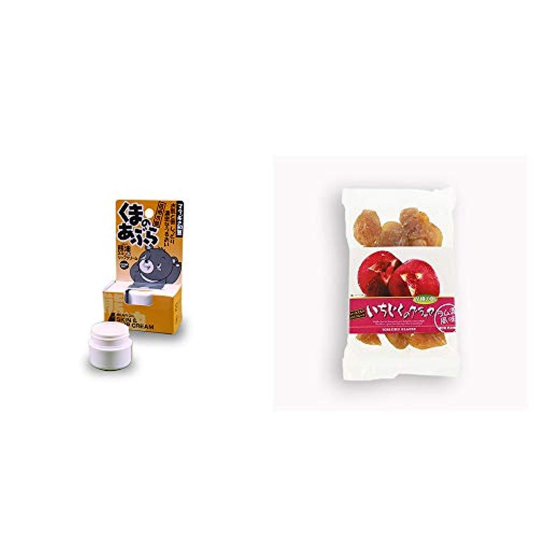 奇妙な顎バックアップ[2点セット] 信州木曽 くまのあぶら 熊油スキン&リップクリーム(9g)?いちじくのグラッセ(230g)