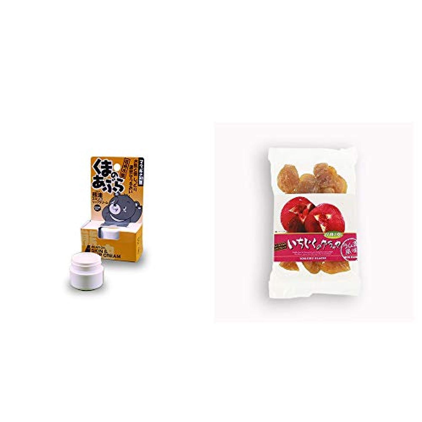 悩み描写吸収[2点セット] 信州木曽 くまのあぶら 熊油スキン&リップクリーム(9g)?いちじくのグラッセ(230g)