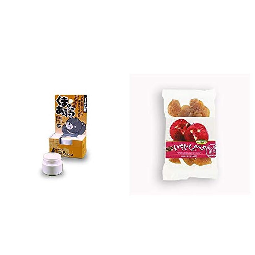 遮る月けん引[2点セット] 信州木曽 くまのあぶら 熊油スキン&リップクリーム(9g)?いちじくのグラッセ(230g)