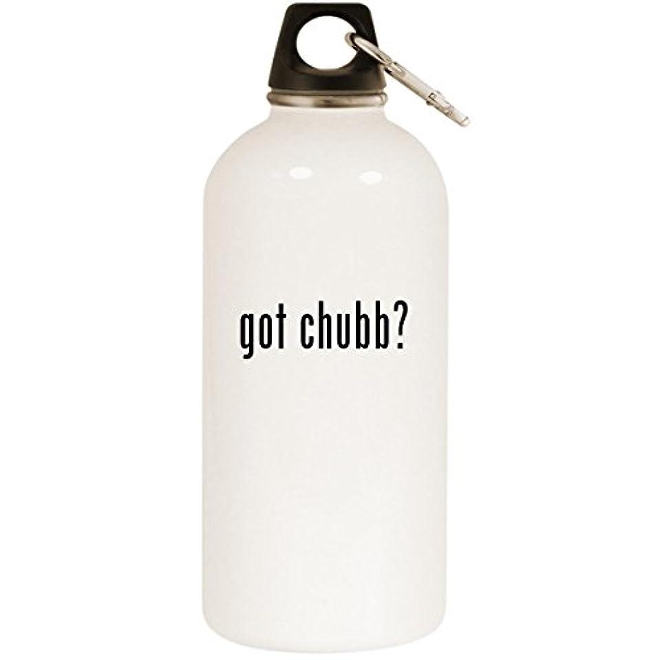 勃起評決アジテーションGot Chubb ? – ホワイト20ozステンレススチールウォーターボトルカラビナ