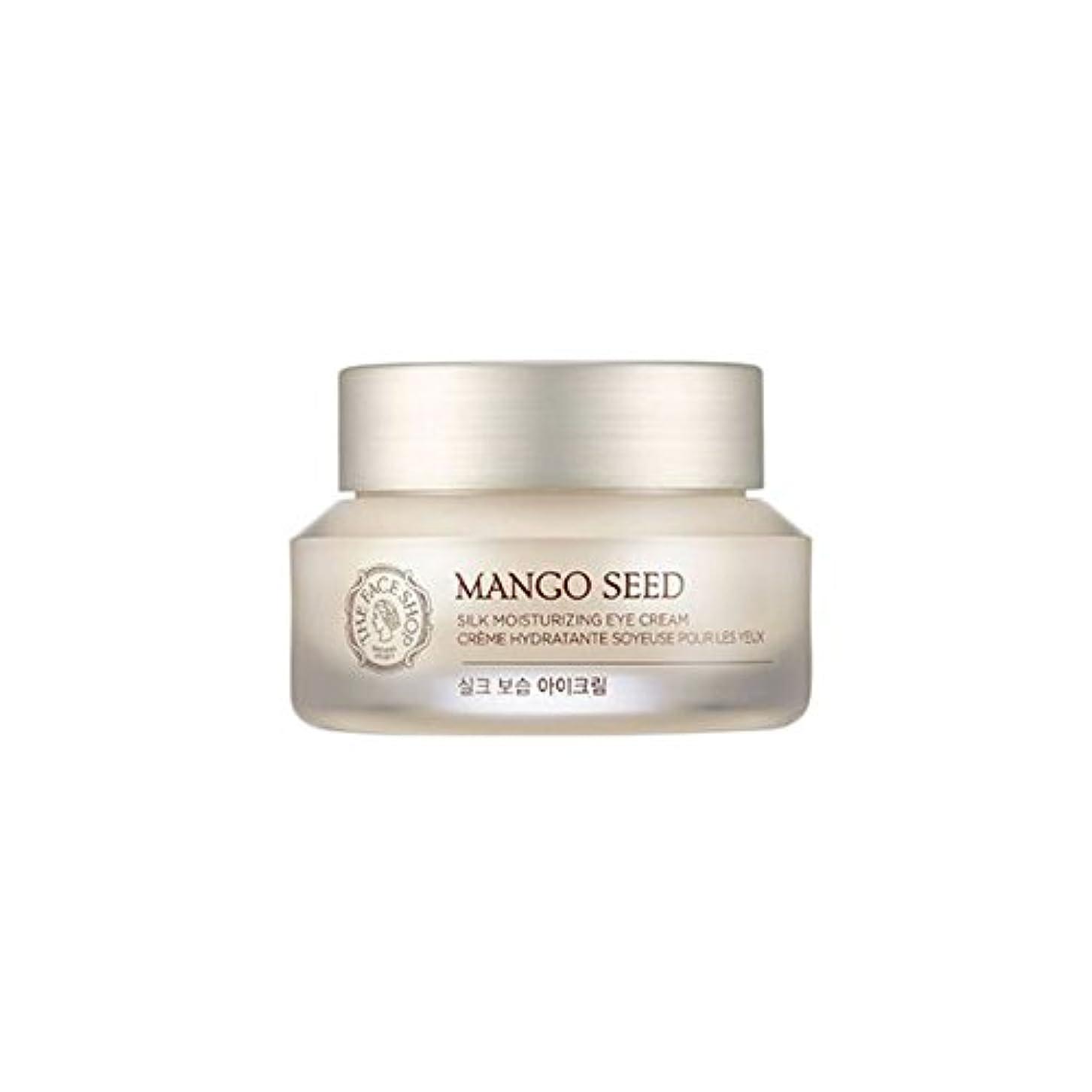 円形の通常楽しませる[ザフェイスショップ] THE FACE SHOP マンゴシードシルク保湿アイクリーム (30ml) The Face Shop Mango Seed Silk Moisturizing Eye Cream(30ml)...