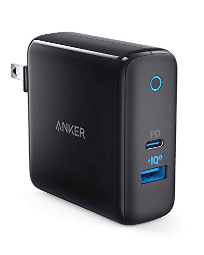 Anker PowerPort ll PD - 1 PD and 1 PowerIQ 2.0 (48W 2ポートUSB-A & USB-C 急速充電器)【PSE認証済/PowerIQ 2.0搭載 / PD対応/折りたたみ式プラグ搭載 】iPhone XS/XS Max/XR / 8 / 8 Plus、Galaxy S9 / S9+、Xperia XZ1、MacBook他対応(ブラック)