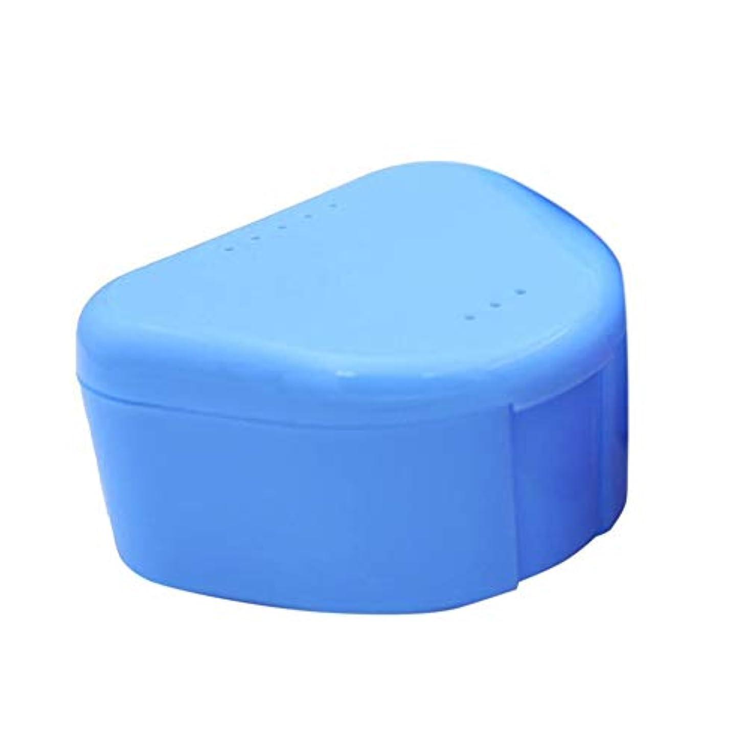 ノベルティどきどき最小デンタルリテーナーケースデンタルブレース偽歯収納ケースボックスマウスピースオーガナイザーオーラルヘルスケアデンタルトレイボックス(Color:random)