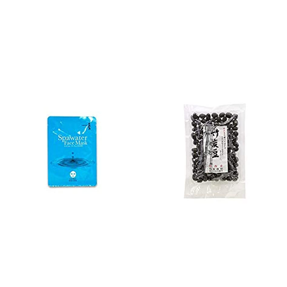 想定地下鉄ベッド[2点セット] ひのき炭黒泉 スパウォーターフェイスマスク(18ml×3枚入)?国内産 竹炭使用 竹炭豆(160g)