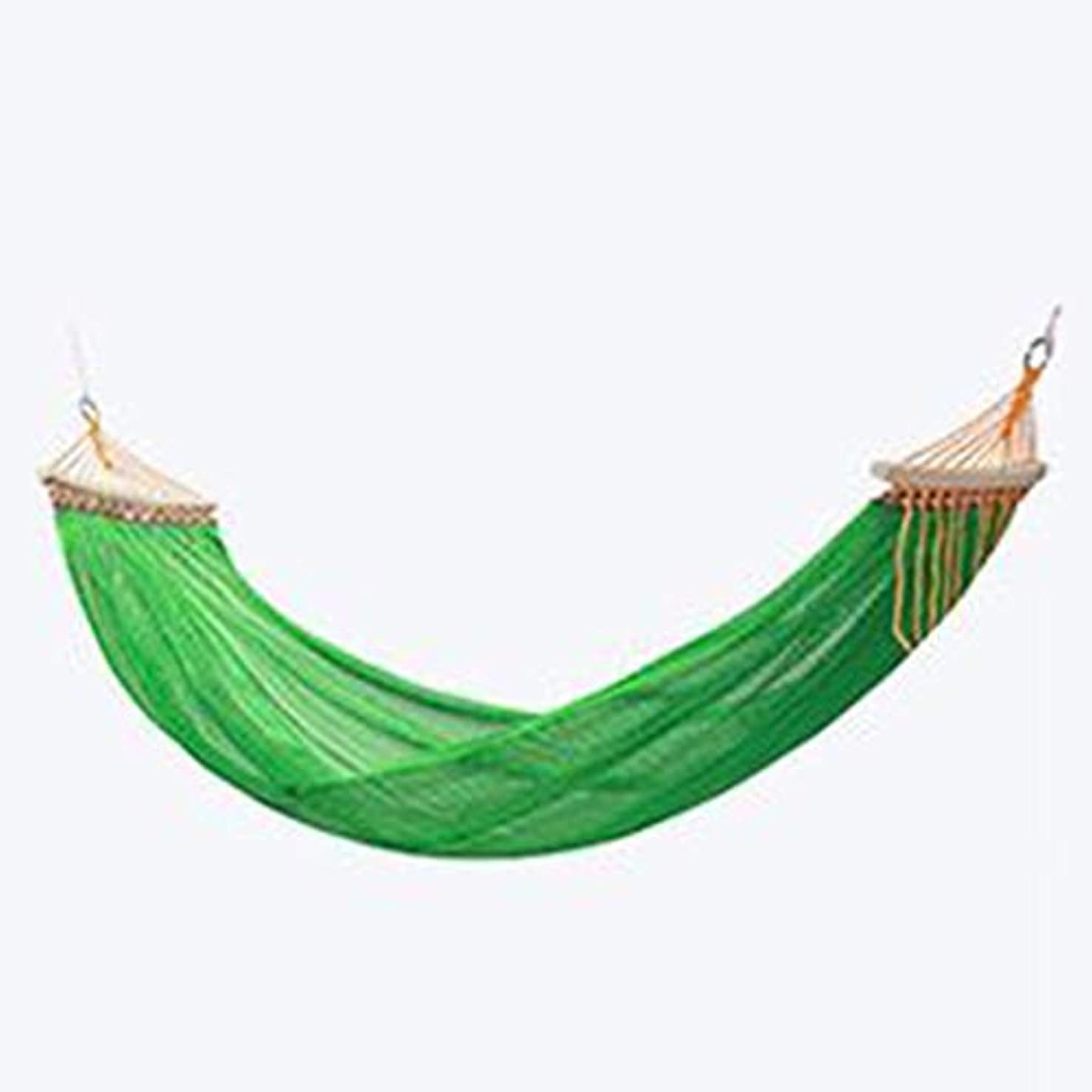 聖域勤勉積極的にキャンプのハンモック、バックパック、キャンプ、旅行、ビーチ、庭のあるシングルとダブルのポータブルライトパラシュートナイロンハンモック (Color : Green)