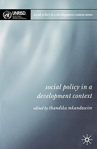 Download Social Policy in a Development Context 1403936617