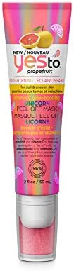 YES TO Grapefruit I Brightening Vitamin C Glow-Boosting Unicorn Peel-Off Mask 2 Fl Oz I Dull & Uneven Skin
