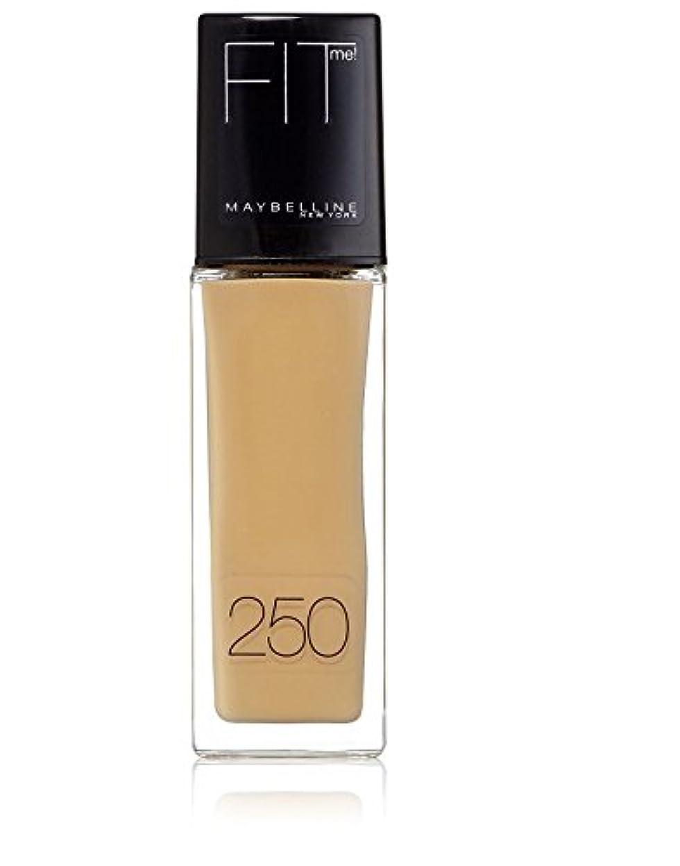 仕様オリエンタル速いMaybelline Fit Me Liquid Foundation Sun Beige 250