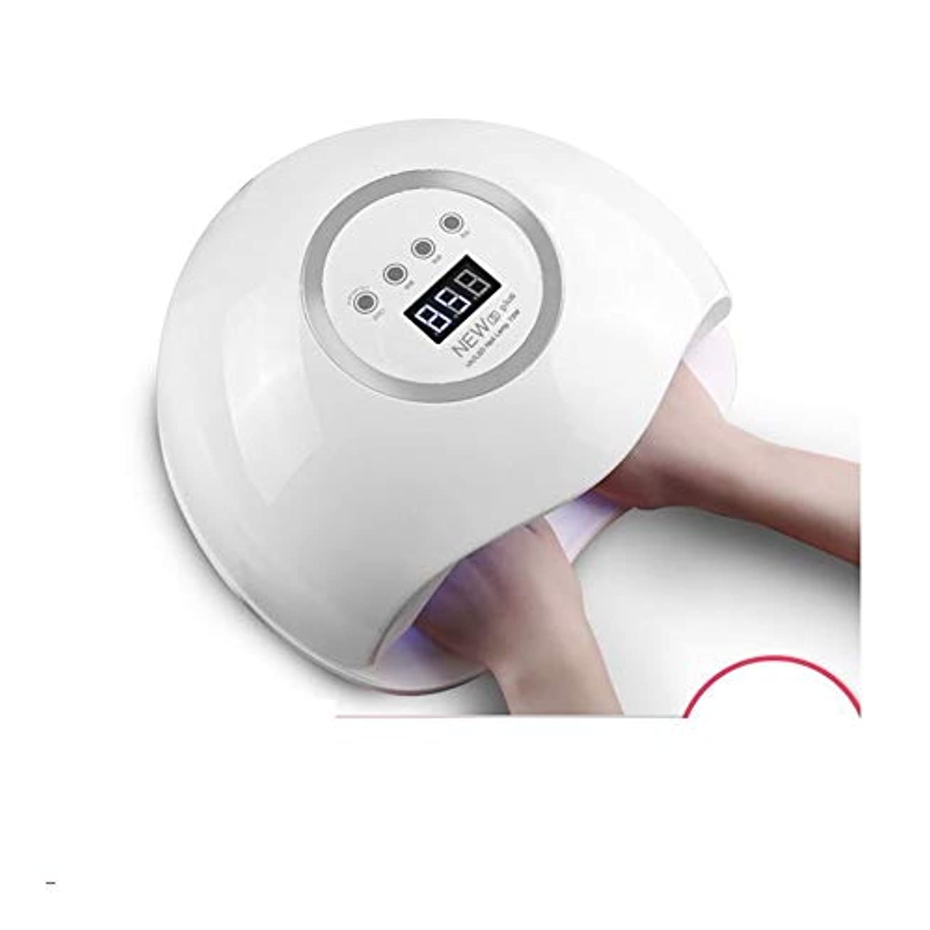 立ち寄る普及エンジニアLittleCat 速乾性ネイルUVドライヤーの熱ランプLEDネイル無痛インテリジェントセンサー太陽灯 (色 : European standard circular plug)