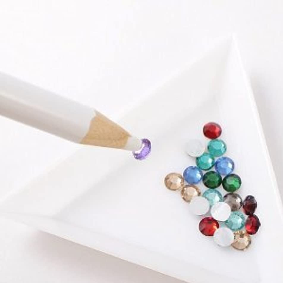 白いボートピッチ【ラインストーン77】 マジカルペンシル 1本 デコ用品 DY2