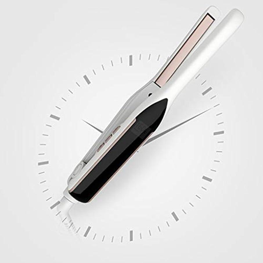 地区月冷えるJWWOZ 1ロールストレートヘアサロンサロンヘアサロンスタイル理髪ツールと細い細いストレートヘアアイロン1CM2 ストレートヘアアイロン (Color : White)