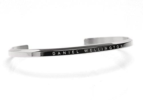 [Daniel Wellington]ダニエルウェリントン バングル ブレスレット Classic Cuff クラシックカフ レディース メンズ (シルバー/ラージ) [並行輸入品]