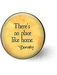 There 's no place like home – Wizard of Oz – Ozジュエリー – Dorothy引用 – Rubyスリッパ – Homesickギフト – ようこそホームギフト – Totoブローチ