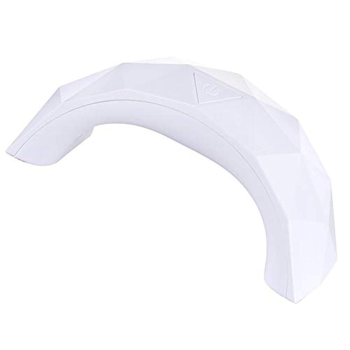 気になる服を着る湾グレファイディンマニキュアランプネイルマシンソリッドカラーミニブリッジLED UVネイルランプゲルポリッシュドライヤータイミングマニキュアライト - レッド