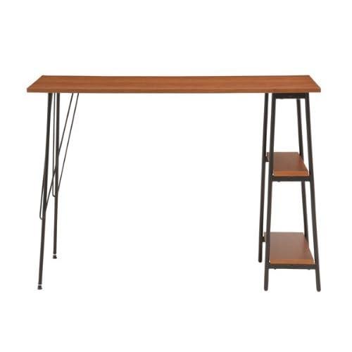あずま工芸 カウンターテーブル 棚 机 キッチン ダイニング TCT-1240 ダークブラウン 【代引き不可】 [並行輸入品]