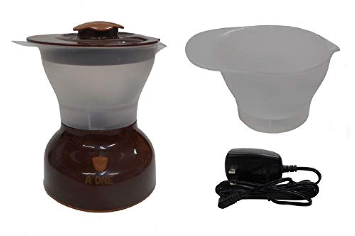 温度計砂有限ヘアカラー専用ミキサー まぜん太 (本体セット+ACアダプター+専用カップ) 3点セット