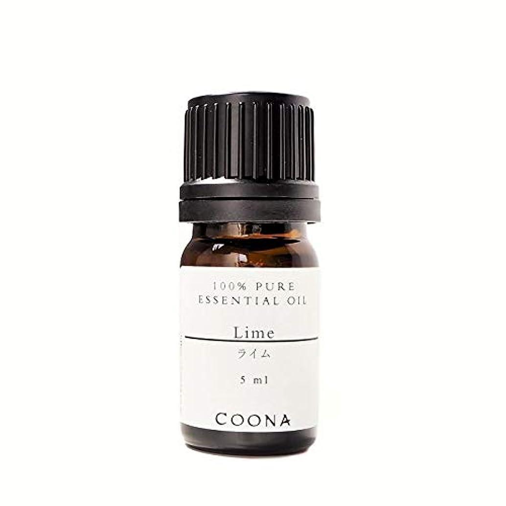 異形バス聞くライム 5 ml (COONA エッセンシャルオイル アロマオイル 100%天然植物精油)