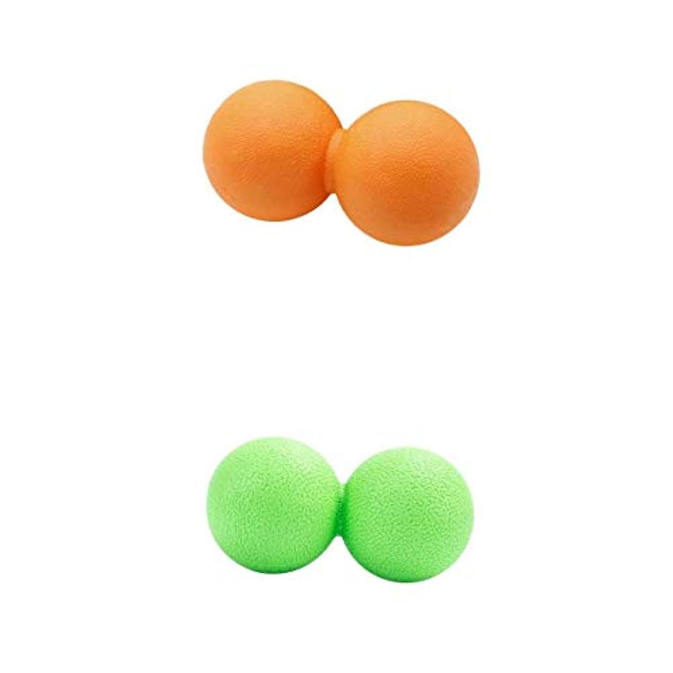 徹底的に注入する擁するFenteer マッサージボール ピーナッツ型 筋膜リリース トリガーポイント ツボ押しグッズ 2個入