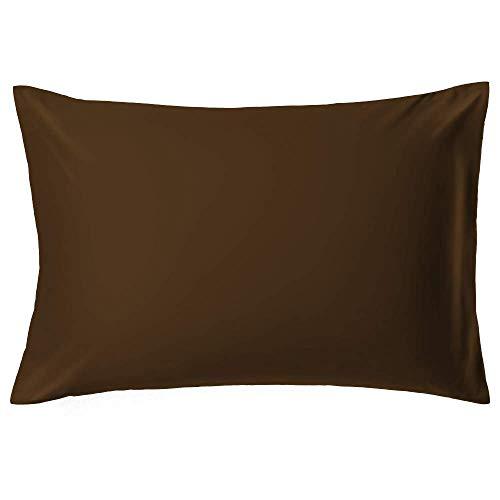 AYO 枕カバー 高級棉100% 全サイズピローケース ホテル品質 サテン織 300本高密度 防ダニ 抗菌 防臭 43x63cmブラウン