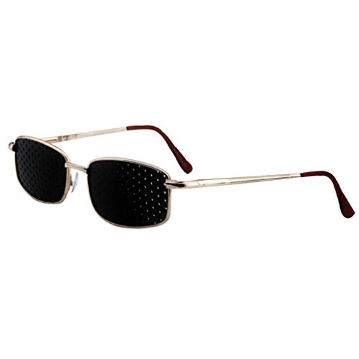 フリッパー新着少年ピンホールメガネ、視力矯正メガネ網状視力保護メガネ耐疲労性メガネ近視の防止メガネの改善