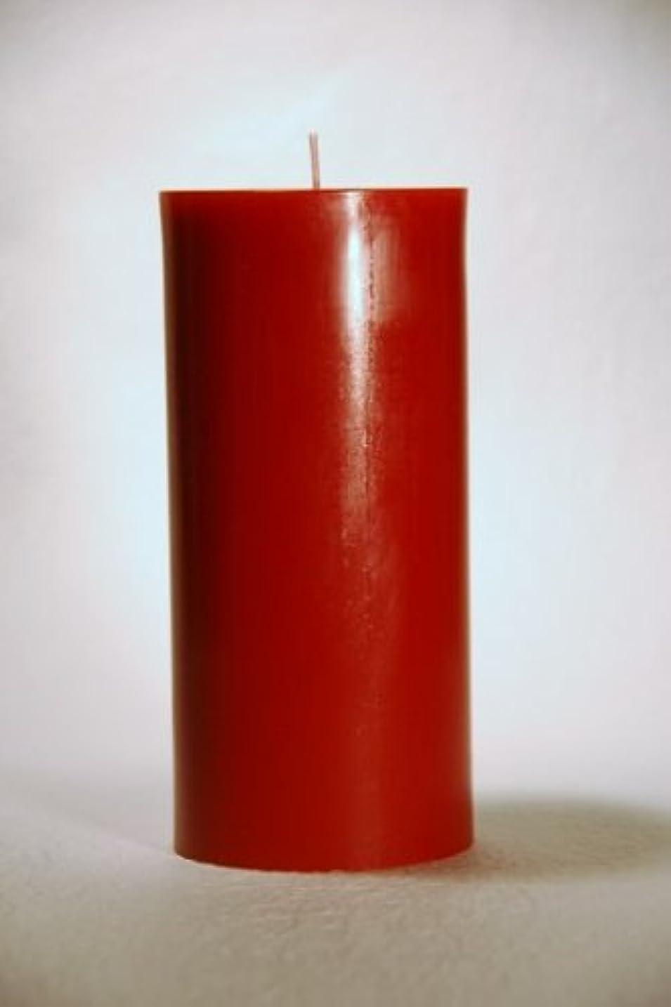ブラウンアフリカ人染料ペガサスキャンドル 2?3/4×6ラウンド Xmasレッド-