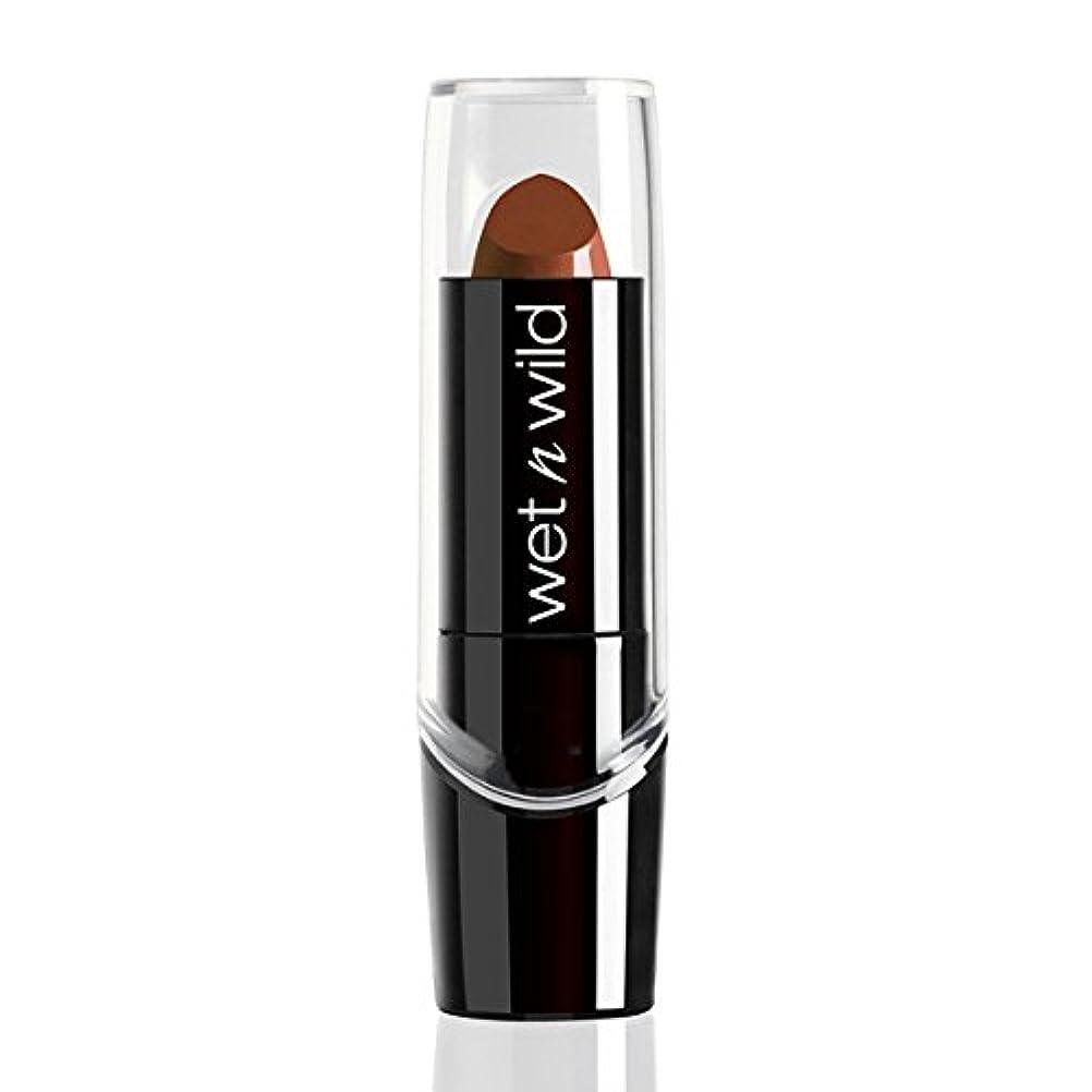 不潔シニス変形するWET N WILD Silk Finish Lipstick - Mink Brown (並行輸入品)