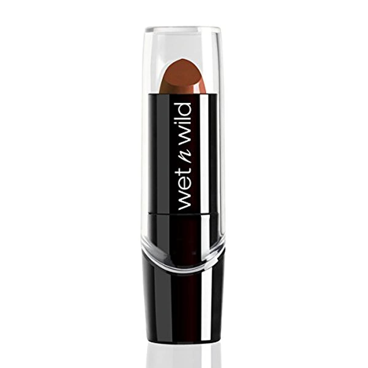 パイ意味するシンプルさWET N WILD Silk Finish Lipstick - Mink Brown (並行輸入品)