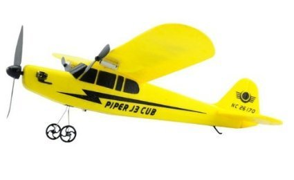 EasyToFly ビッグサイズ33cm 2ch セスナ型ラジコン パイパー J-3カブ 電動飛行機