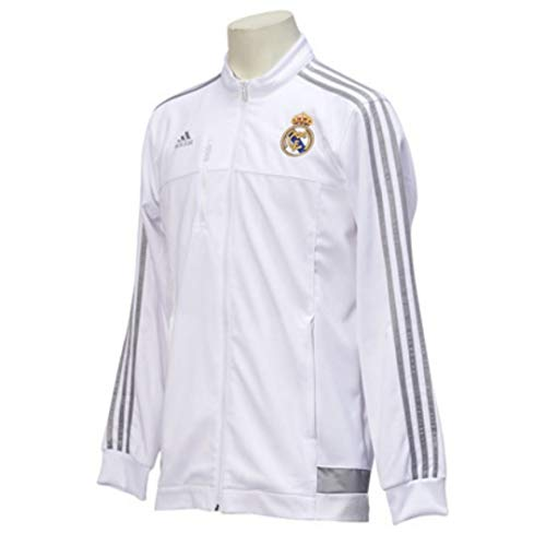 レアルマドリード 公式ジャケット Oサイズ ホワイト/マットシルバー 在庫限り UEFA ファッション メンズ 久保建英