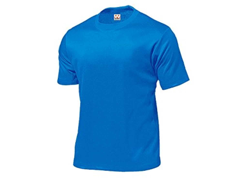 WUNDOU (ウンドウ) タフドライTシャツ ブルー P-110-4XL 1710 メンズ 紳士 男性 03.ブルー