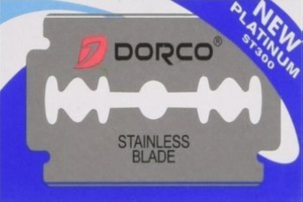 反毒適応超音速Dorco ST-300 Platinum 両刃替刃 10枚入り(10枚入り1 個セット)【並行輸入品】