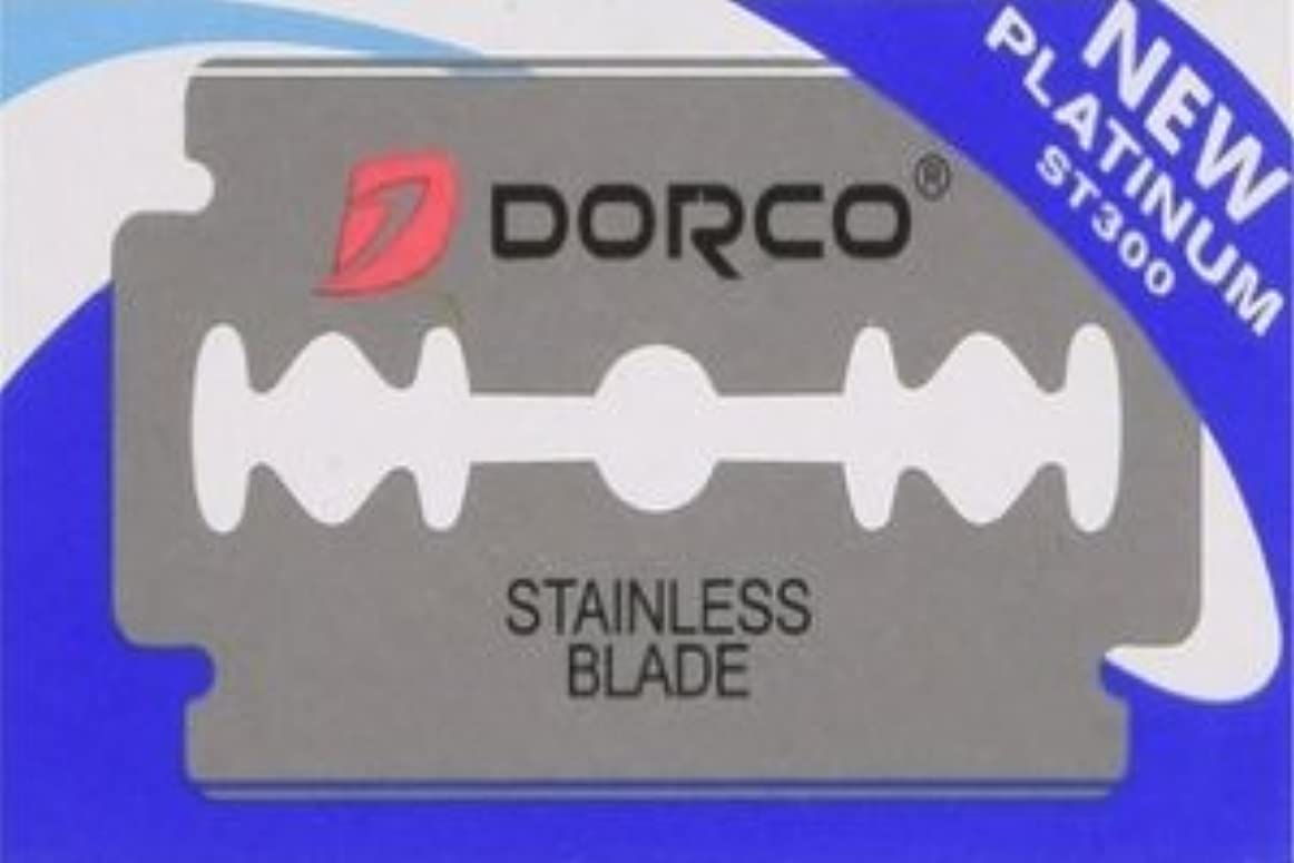 飛躍ホバー天文学Dorco ST-300 Platinum 両刃替刃 100枚入り(10枚入り10 個セット)【並行輸入品】