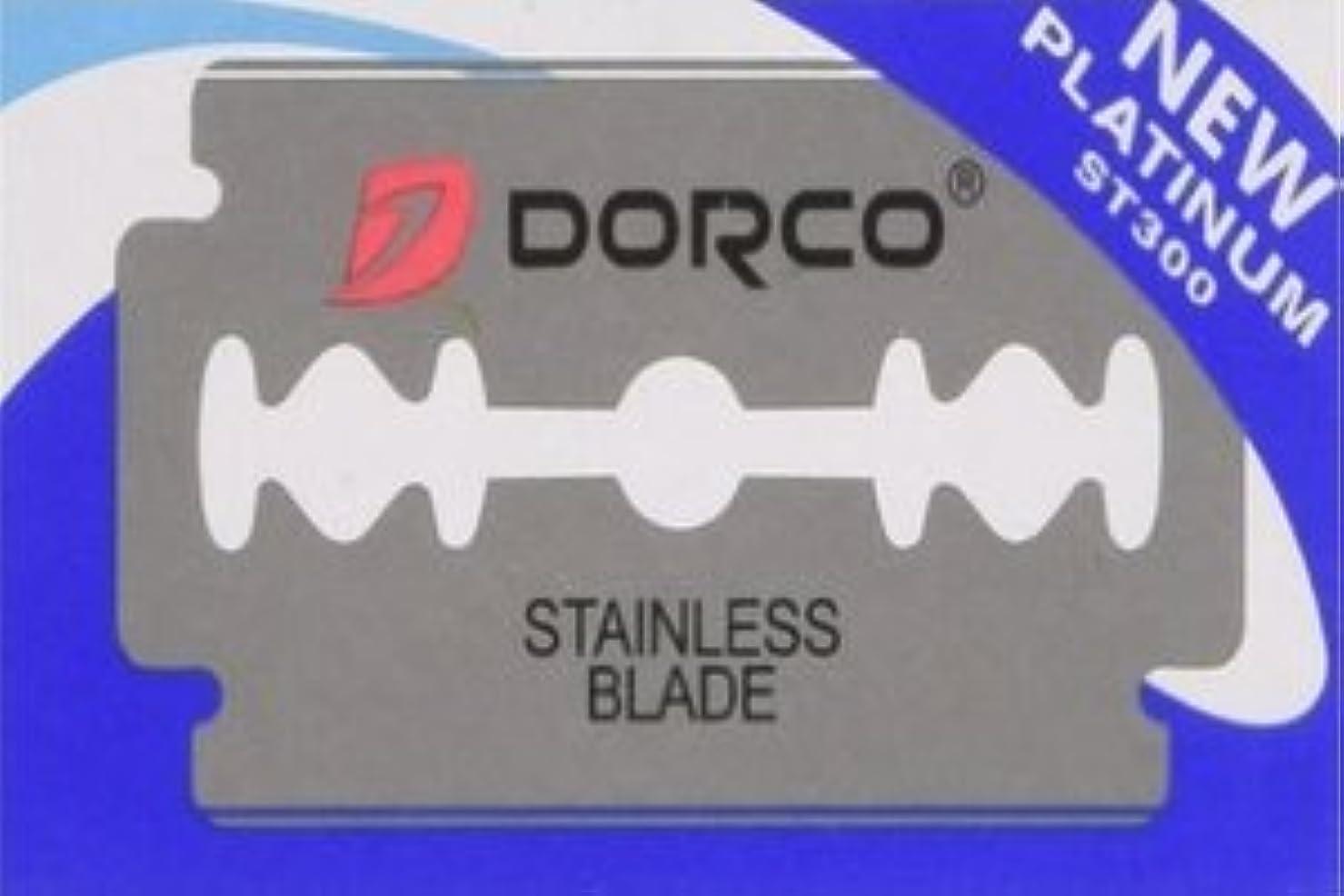 蛾感度ミサイルDorco ST-300 Platinum 両刃替刃 100枚入り(10枚入り10 個セット)【並行輸入品】