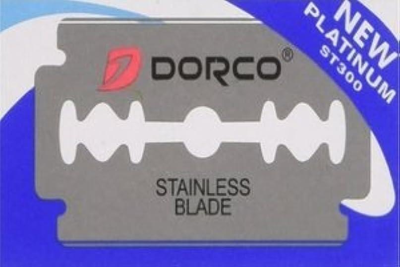 アルミニウム放出展示会Dorco ST-300 Platinum 両刃替刃 100枚入り(10枚入り10 個セット)【並行輸入品】
