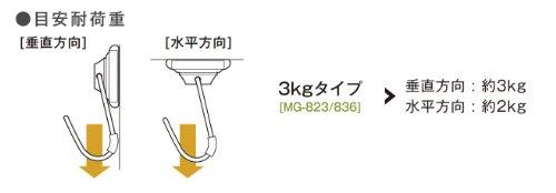 ソニック マグネット 超強力・メタルマグフック 3kg ラバーグリップ MG-823