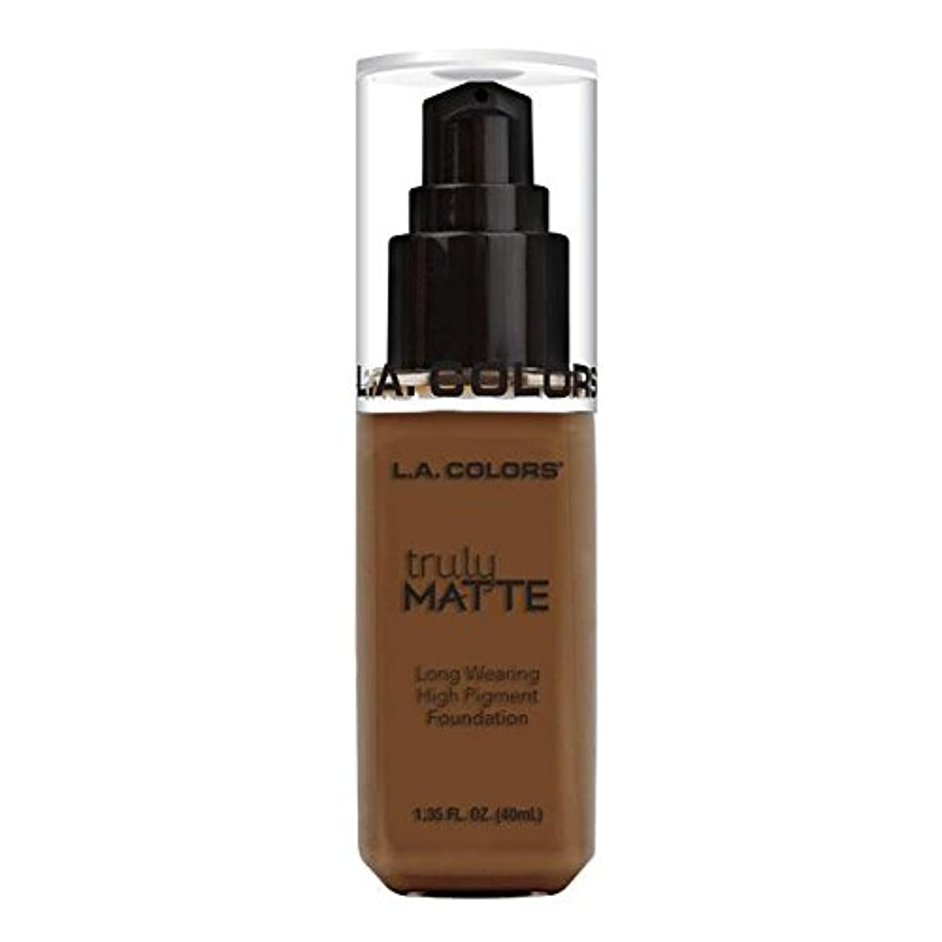 コンベンション試用土(6 Pack) L.A. COLORS Truly Matte Foundation - Mahogany (並行輸入品)