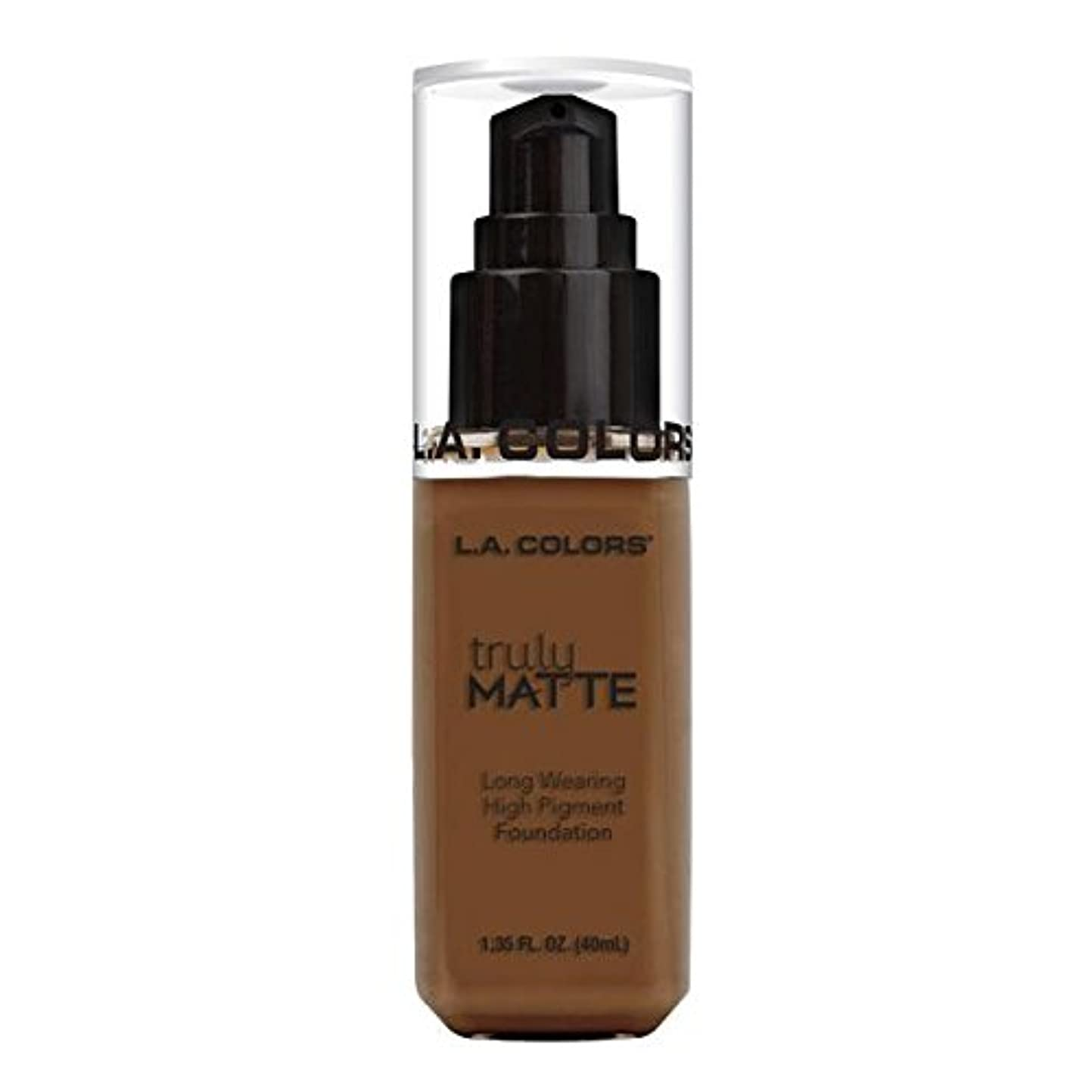 コーラスメッシュびん(6 Pack) L.A. COLORS Truly Matte Foundation - Mahogany (並行輸入品)