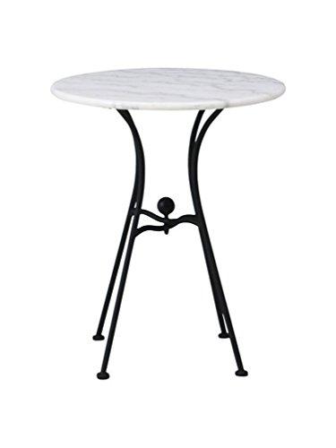 (アンティークフジ)antique-fuji 大理石 ガーデンテーブル/スタッキングチェア 2脚セット(単品購入可):interior-fu-1520916 (テーブル単品)