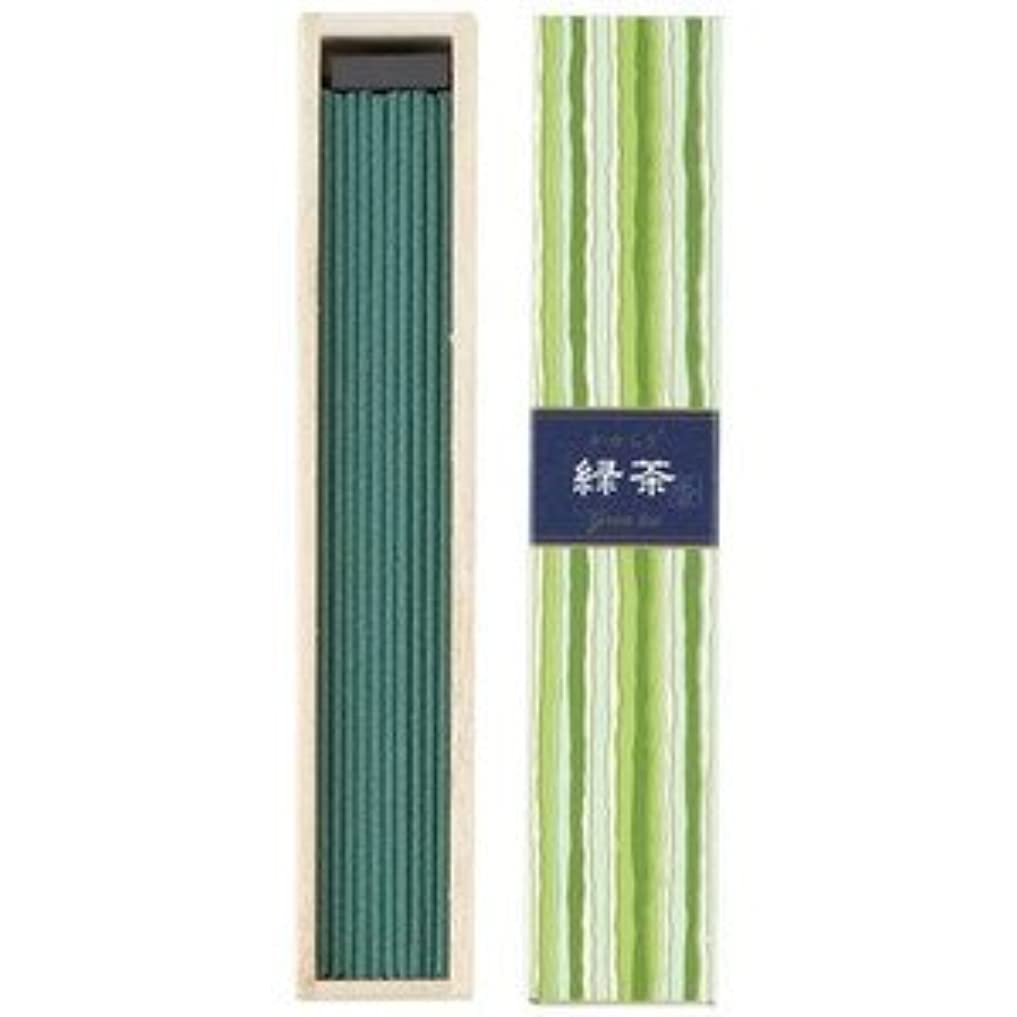広々ガラス上回る日本香堂 かゆらぎスティック 緑茶