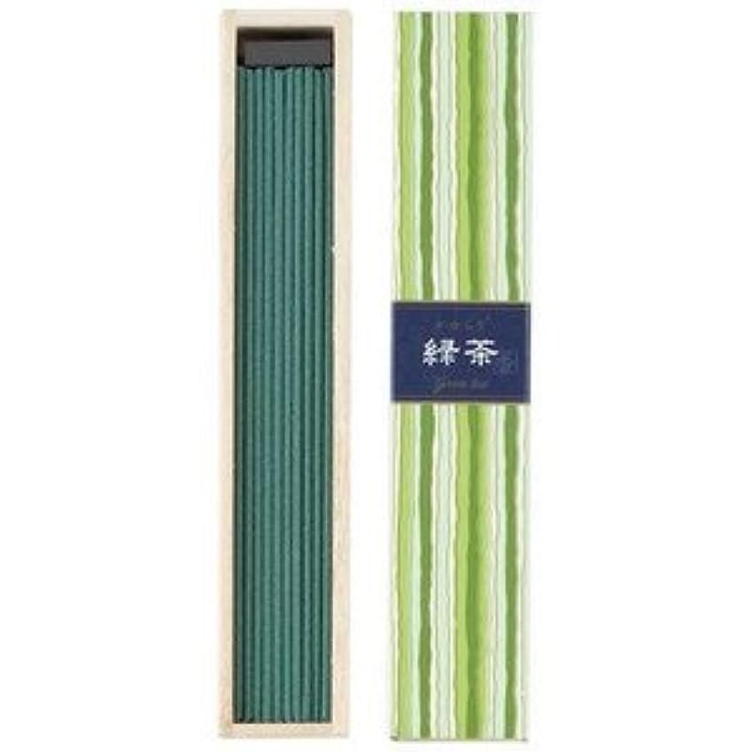 節約スクレーパーエスカレーター日本香堂 かゆらぎスティック 緑茶