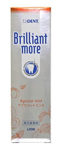 DENTブリリアントモア アプリコットミント 90g 1セット(2本) ライオン 歯磨き粉