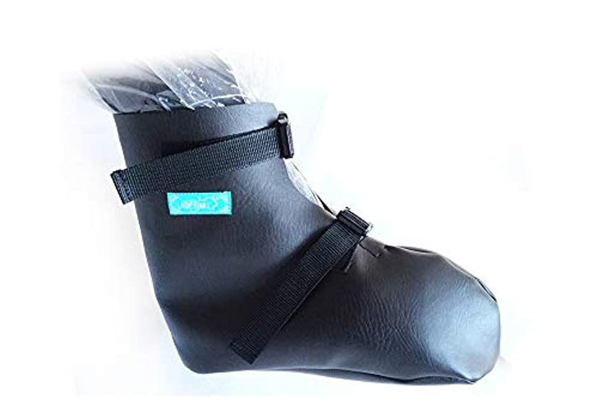 パースブラックボロウ回転アンソロジーつま先の靴カバーをキャスト-術後骨折足/足骨折キャストカバー-骨折した足の指と足底筋膜炎のための術後保護カバー,S